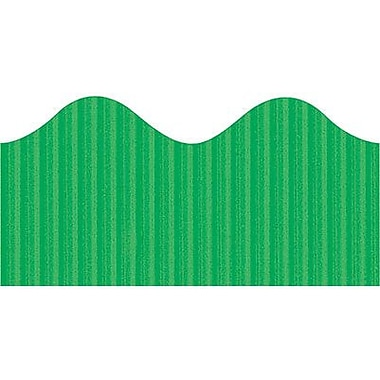 Pacon® Bordette® pre-school - 12th Grades Scalloped Decorative Border, Apple Green