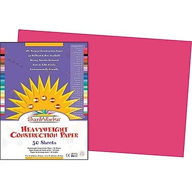 Pacon® SunWorks® Groundwood Construction Paper, Scarlet, 12in.(W) x 18in.(L), 50 Sheets