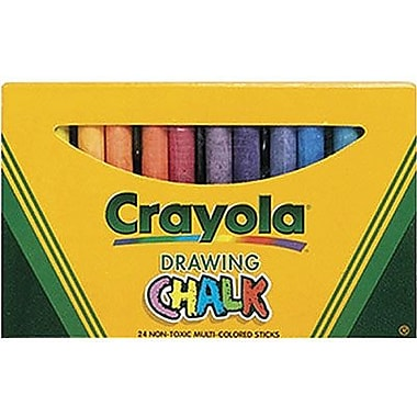 Crayola® 3 3/16in. Drawing Chalk, Assorted, 24/Carton