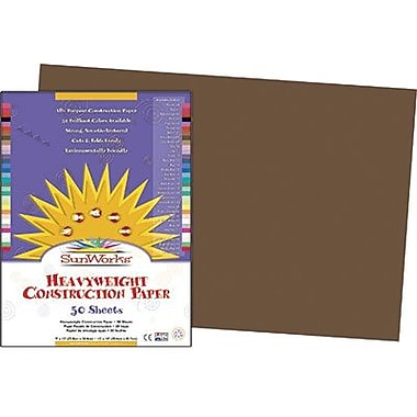 Pacon® SunWorks® Groundwood Construction Paper, Dark Brown, 12in.(W) x 18in.(L), 50 Sheets