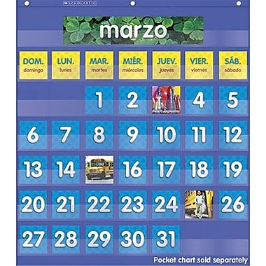 Teacher's Friend® Spanish Monthly Calendar Pocket Chart Add-Ons, Grades pre-kindergarten - 8th