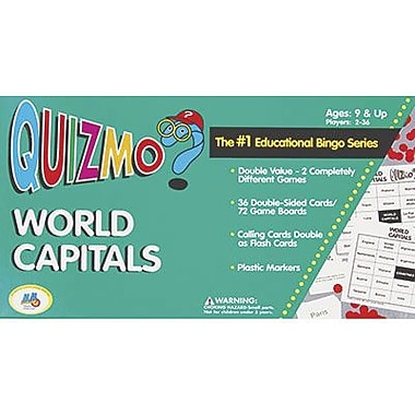 Learning Advantage™ Quizmo® Card Game, World Capitals