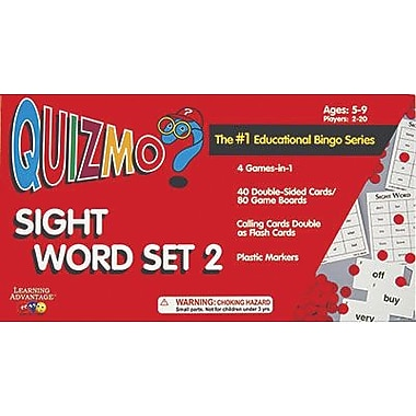 Learning Advantage Quizmo® Sight Word Set 2 Bingo Game, Grades 1st - 4th