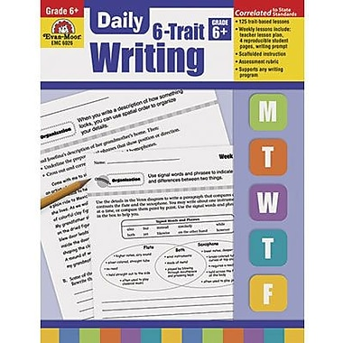 Evan-Moor® Daily 6 Trait Writing Book, Grades 6th+