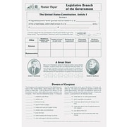 Milliken & Lorenz Educational Press® Poster Paper, Legislative Branch of The Government