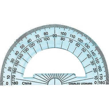 Charles Leonard® Plastic Protractor, 4in. Ruler Edge