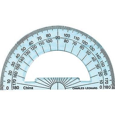 Charles Leonard® Plastic Protractor, 4in. Ruler Edge