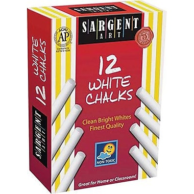 Sargent Art® 31/4in. Dustless School Chalk, White