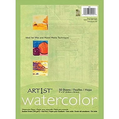 Pacon® Art1st® Watercolor Paper, White, 9in.(W) x 12in.(L), 50 Sheets