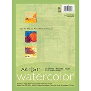 Pacon 4925 12 x 9 Artist Watercolor Paper, Assorted