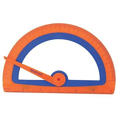 Westcott® Soft Touch School Protractor With Microban Protection, Assorterd