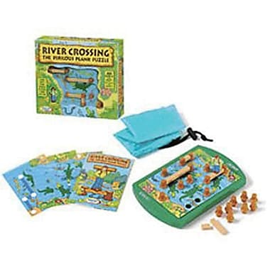 Think Fun® Strategy Game, River Crossing The Perilous Plank Puzzle