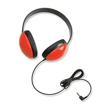 Califone® Listening First™ Stereo Headphone, Red