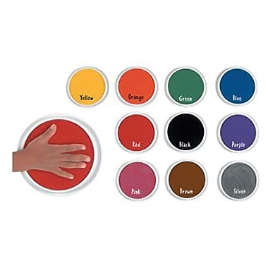 Center Enterprises® Circular Washable Paint/Ink Pad, Classroom Kit