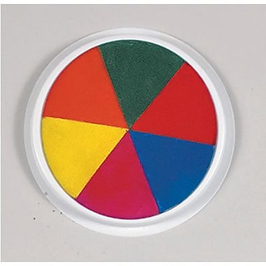 Center Enterprises® 6in. Jumbo Circular Washable Paint/Ink Pad, Rainbow
