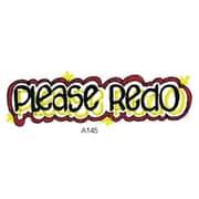 Center Enterprises® Sweet-Arts Artistic Rubber Stamp, Please Redo