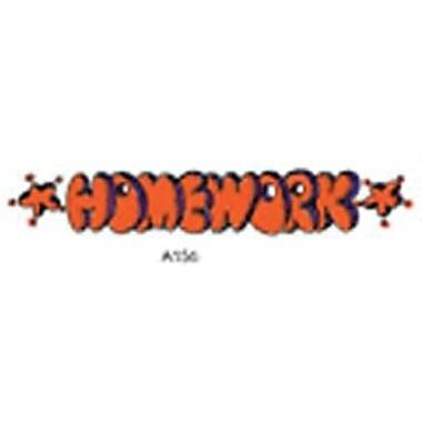 Center Enterprises® Sweet-Arts Artistic Rubber Stamp, Homework