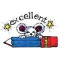 Center Enterprises® Sweet-Arts Artistic Rubber Stamp, Mouse and Pencil