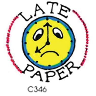 Center Enterprises® Sweet-Arts Artistic Rubber Stamp, Late Paper