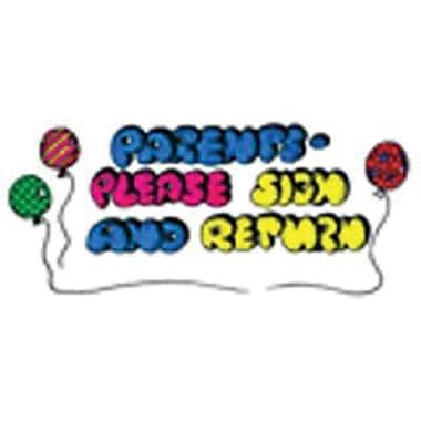 Center Enterprises® Sweet-Arts Artistic Rubber Stamp, parents' Sign and Return