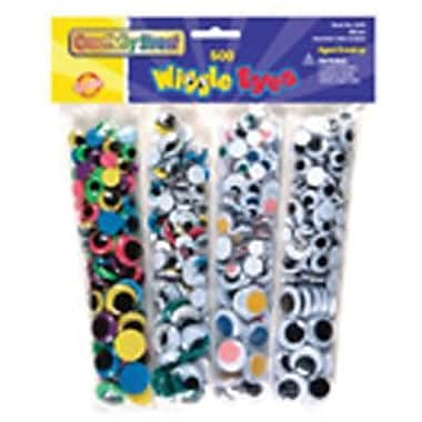 Chenille Craft® Wiggle Eyes Assortment, 500 Pieces