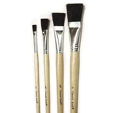 Chenille Craft® Tempera Brush Set, 1in.(W), Black Bristle