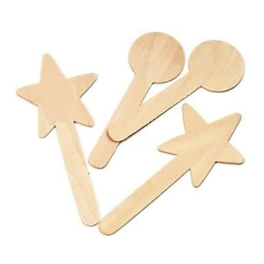 Chenille Craft® Large Geometric Shapes Wood Craft Sticks, 36 Pieces