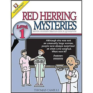 Critical Thinking Press™ Level 1 Red Herring Mysteries Book, Grades 4th - 6th