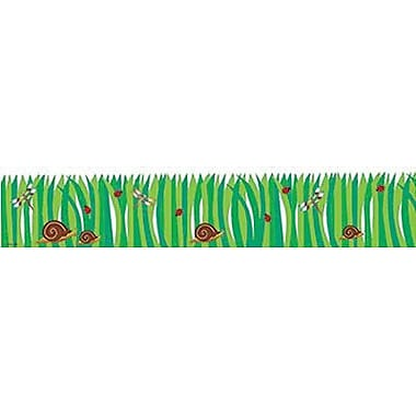 Creative Teaching Press CTP0359 35' x 3in. Straight Nature Grass Border, Green