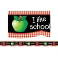 Creative Teaching Press™ preschool - 12th Grades Bulletin Board Border, Apple Chalkboard