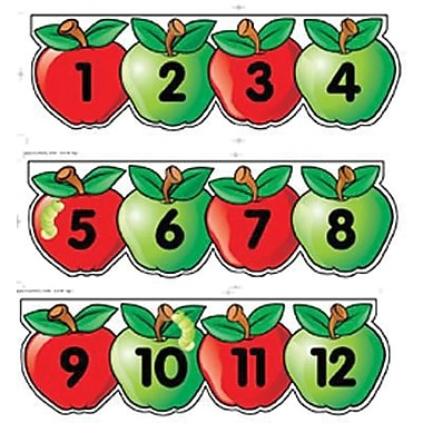 Creative Teaching Press Mini Bulletin Board Set, Apples Number Line