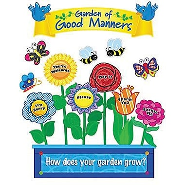 Creative Teaching Press™ Mini Bulletin Board Set, Garden of Good Manners