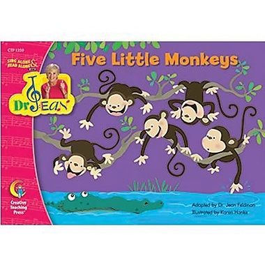Creative Teaching Press™ Five Little Monkeys Book By Dr. Jean Feldman, Grades pre-school - 1st