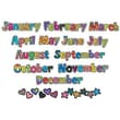 Creative Teaching Press™ Poppin Patterns® 12 Months Headlines Cut-Outs, Months of The Year
