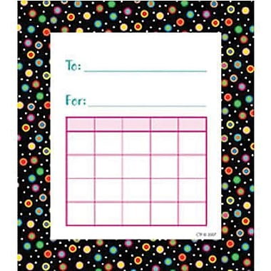 Creative Teaching Press™ Student Incentive Chart, Dots On Black