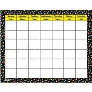 Creative Teaching Press™ Dots On Black Calendar Chart, Large