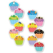 "Creative Teaching Press 6"" Designer Cut-Outs Variety Pack, Cupcakes"
