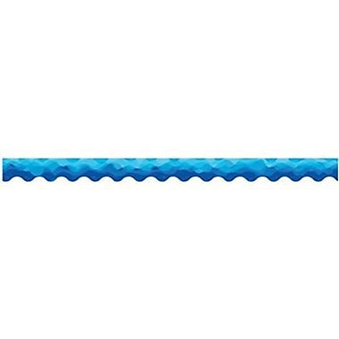 Creative Teaching Press™ pre-school - 12th Grades Scalloped Bulletin Board Border, Waves of Blue