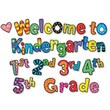 Creative Teaching Press™ Poppin Patterns® Mini Bulletin Board Set, Welcome To Kindergarten
