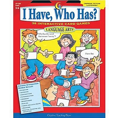 Creative Teaching Press™ I Have, Who Has? Language Arts, Grades 5th - 6th