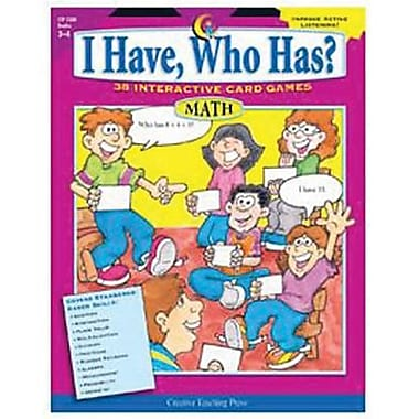 Creative Teaching Press I Have, Who Has? Math Activity Book, Grades 3rd - 4th
