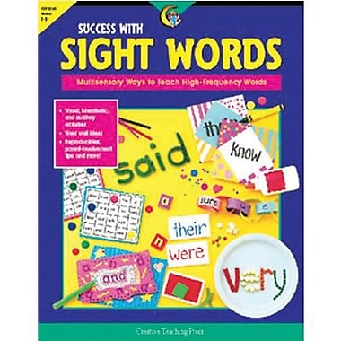 Creative Teaching Press Success With Sight Words Book, Grades 1st -3rd