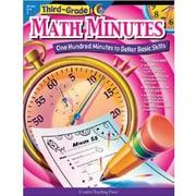 Creative Teaching Press Math Minutes Book, Grades 3rd
