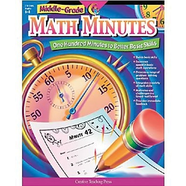 Creative Teaching Press™ Math Minutes Book, Middle Grades