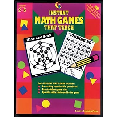 Creative Teaching Press™ Instant Math Games That Teach Book, Grades 2nd -5th