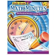 Creative Teaching Press Math Minutes Book, Grades 6th