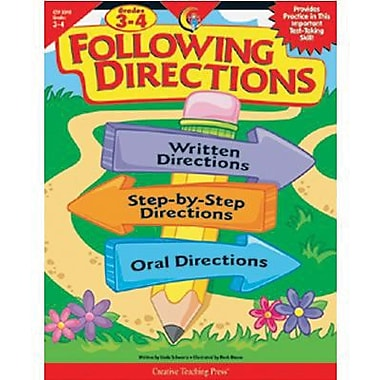 Creative Teaching Press™ Following Directions Book, Grades 3rd - 4th