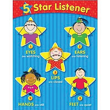 Creative Teaching Press™ 5-Star Listener Small Chart