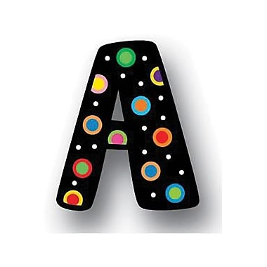 Creative Teaching Press™ Letter Stickers, Dots On Black Uppercase