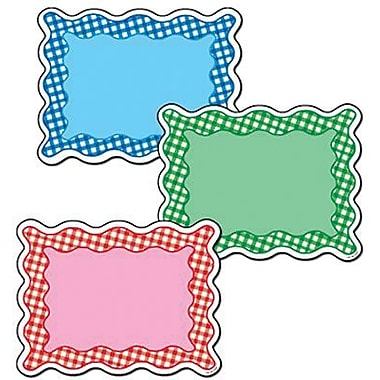 Creative Teaching Press™ 6in. Designer Cut-Outs Variety Pack, Gingham Cards